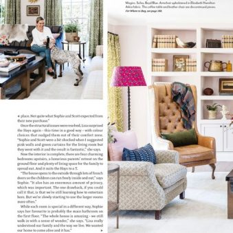 House and Garden magazine page layout